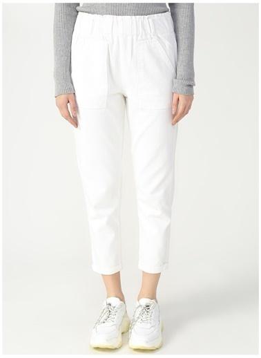 Limon Company Limon Nakon Beyaz Kadın Denim Pantolon Beyaz